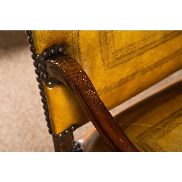 English Traditional English Georgian Walnut Armchair For Sale - Image 3 of 9