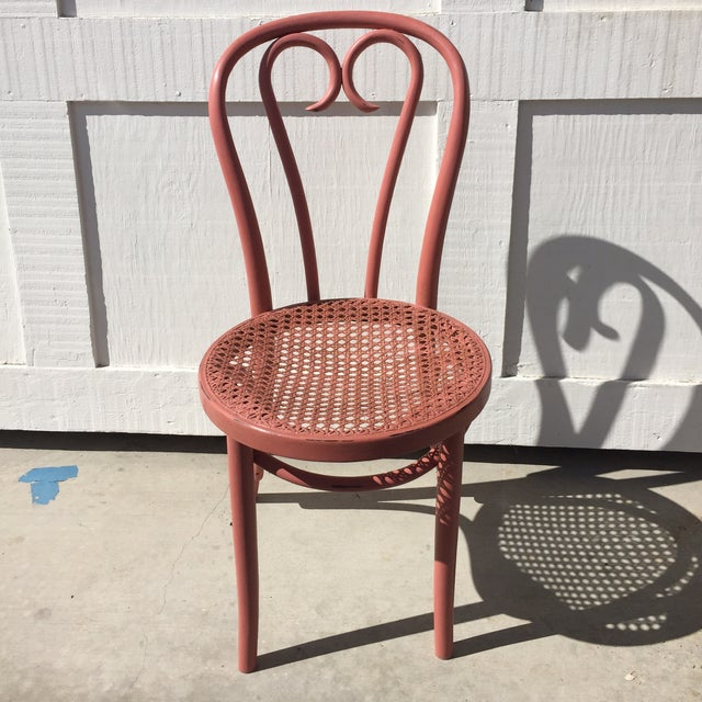 Pink Thonet-Style Cafe Chair - Image 2 of 7