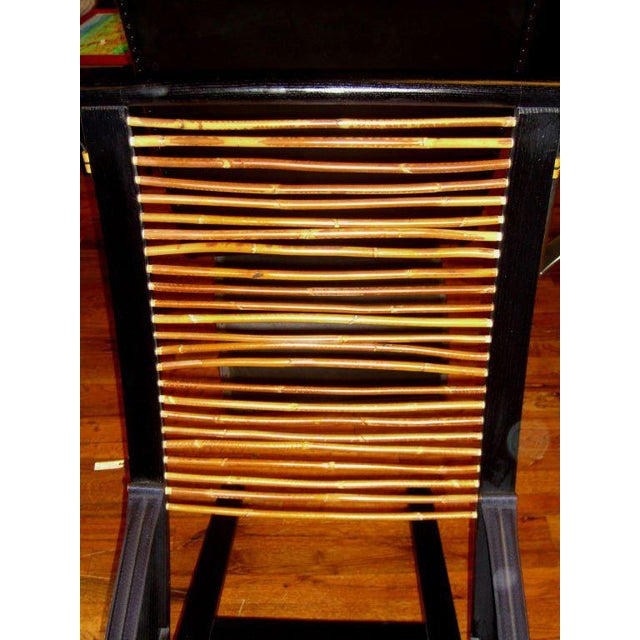 1970s David Colwell Trannon C1 Reclining Lounge Chair and Ottoman Rattan For Sale - Image 5 of 10