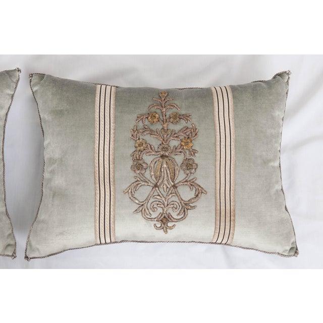 Empire B. Viz Design Antique Textile Pillows For Sale - Image 3 of 7
