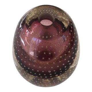 Smokey Topaz Violet Bullicante Controlled Bubble Vase