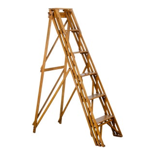 English Lattice Library Ladder For Sale