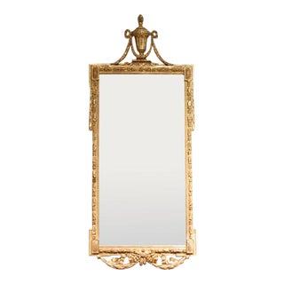 Large Italian Neoclassical Gilt Wood Mirror