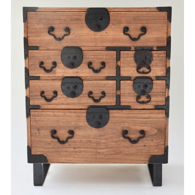 Black 19th Century Japanese Tansu With Hand Forged Hardware For Sale - Image 8 of 11