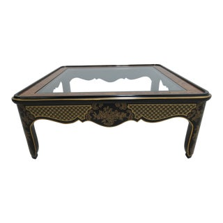Vintage Drexel Chinoiserie Chinese Parsons Coffee Table For Sale