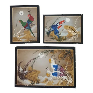 Mexican Folk Art Paintings by Arturo Alcala - Set of 3 For Sale