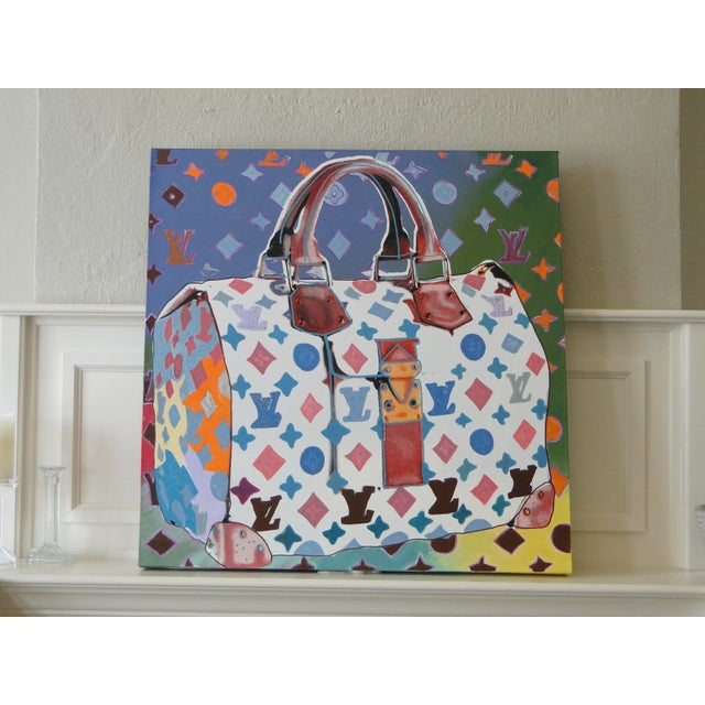 """""""Louis Vuitton Bag,"""" State II (Multi-Colored) Painting by Steve Kaufman (Sak) For Sale - Image 11 of 11"""