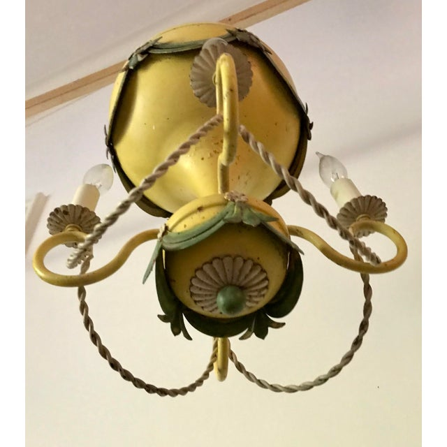Yellow 1930's French Hot-Air Balloon Chandelier For Sale - Image 8 of 13