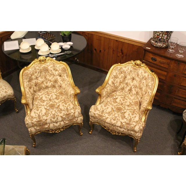 1950s Vintage Hollywood Regency Slipper Chairs- A Pair For Sale - Image 9 of 9
