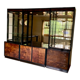 1987 Art Deco-Style Credenza with China Cabinet For Sale