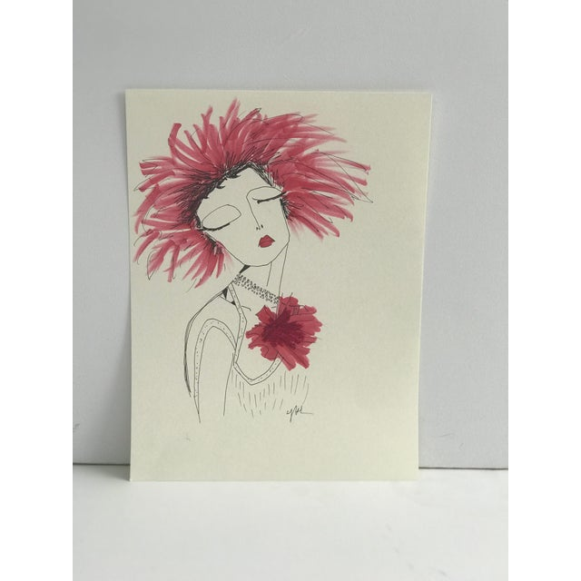 """Figurative 2010s Original Illustration, """"Divinely Dramatic"""" by Carly Kuhn For Sale - Image 3 of 5"""