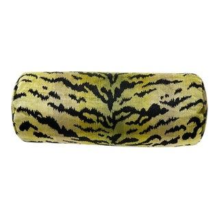 Green Tigre Bolster Pillow For Sale