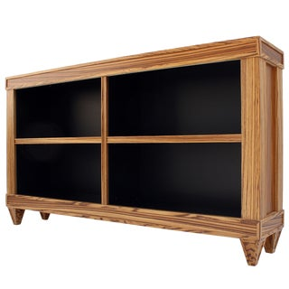 Custom Zebrawood Bookcases For Sale