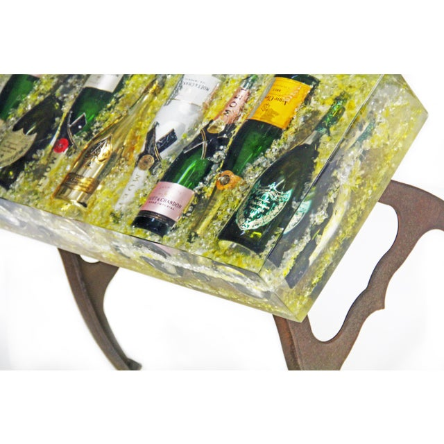 Strange Modern Industrial Champagne Bottles Coffee Table Chairish Alphanode Cool Chair Designs And Ideas Alphanodeonline