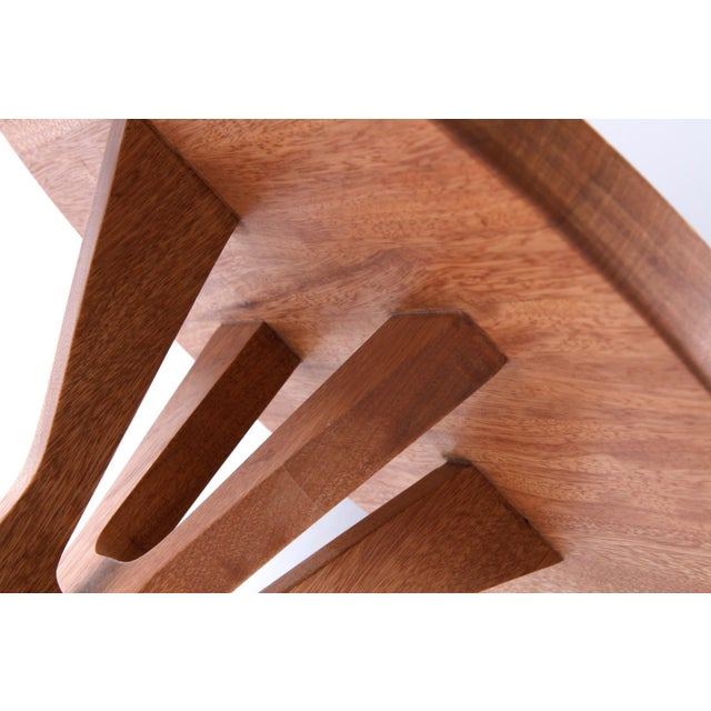 Contemporary Boton Two Side Table in Conacaste Solid Wood For Sale - Image 3 of 5