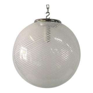 Venini Murano Spiral Globe Pendant