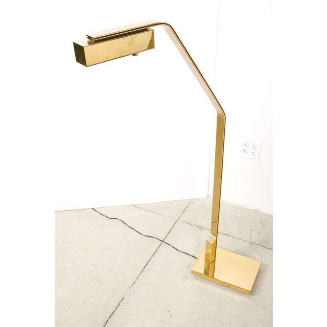 Mid-Century Modern Casella Cantilevered Flat Bar Pivot Reading Lamp For Sale - Image 3 of 8