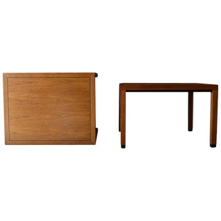 1970s Mid-Century Modern Milo Baughman for Directional Walnut Side Tables - a Pair For Sale
