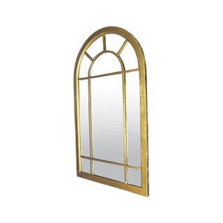 Art Deco Arched Wood Frame Wall Mirror