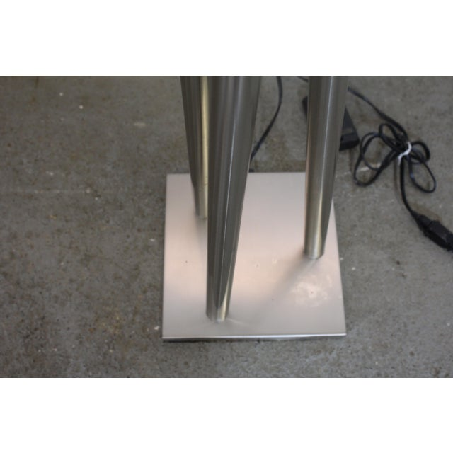 Mid-Century Modern Mid-Century Modern Style Chrome Stick Floor Lamp For Sale - Image 3 of 5
