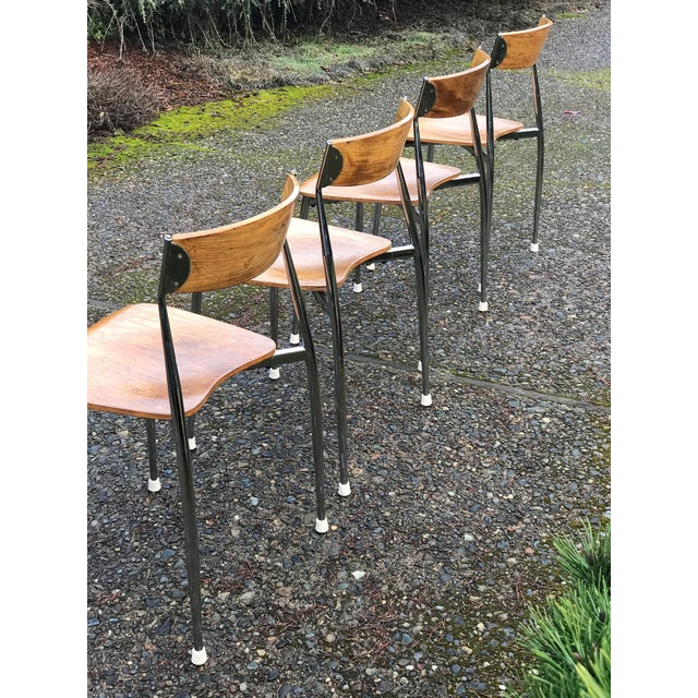 Mid-Century Modern Bernhardt Mid-Century Chrome Dining Chairs - Set of 4 For Sale - Image 3 of 6