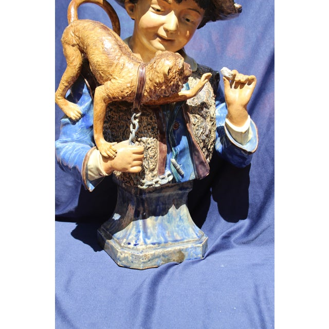 Late 19th C. Bruders Urbach Earthenware Sculpture For Sale - Image 4 of 12