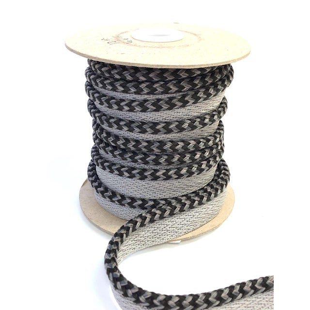 "2010s Braided 1/4"" Indoor/Outdoor Cord in Charcoal & Gray For Sale - Image 5 of 10"