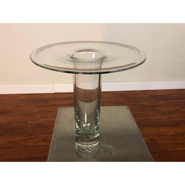 Modern Mid 20th Century Blenko Hand Blown Glass Vase For Sale - Image 3 of 8