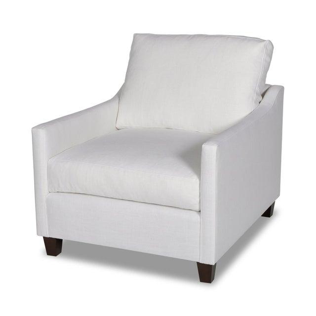 Textile Moss Home Megan Chair Safari Optic White Linen For Sale - Image 7 of 7