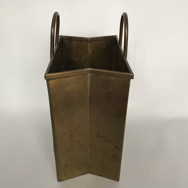 Small Vintage Brass Shopping Bag - Image 2 of 10