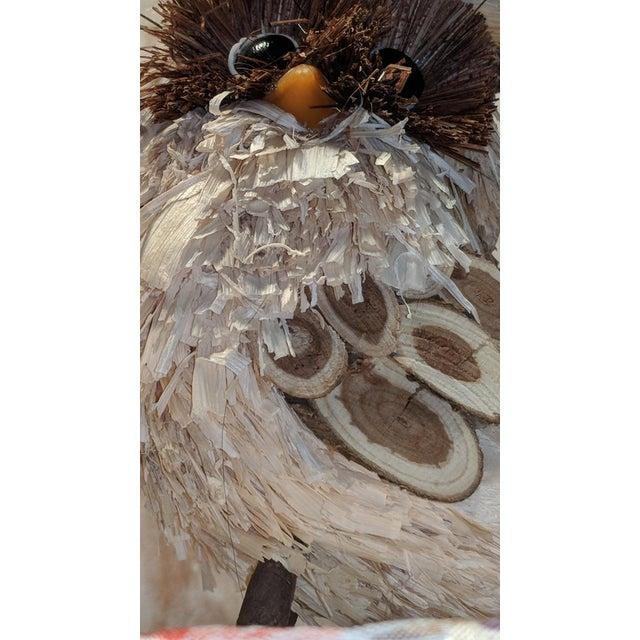 Pleasant Vintage Pilgrim Thanksgiving Fall Corn Husk Wooden Owl Cjindustries Chair Design For Home Cjindustriesco