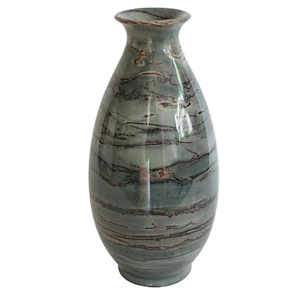 Slate Gray Onyx Stone Vase Chairish