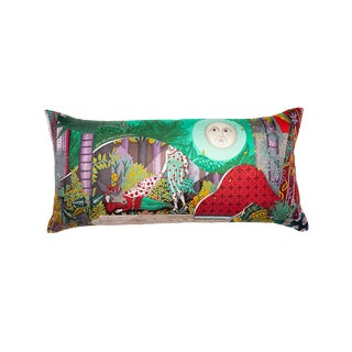 """Acte III, Scene I, La Clairiere"" Hermès Silk Scarf Pillow For Sale"