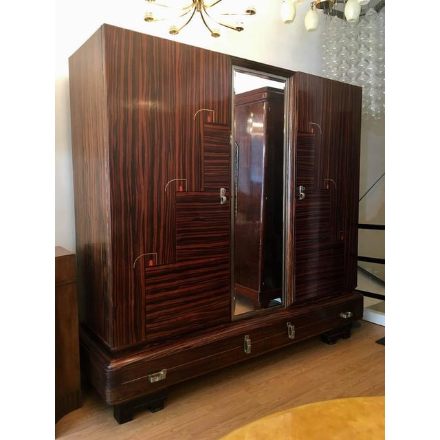 1930s Art Deco De Coene Belgian Cabinet Wardrobe For Sale - Image 10 of 13