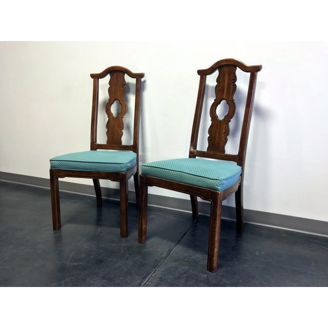 Asian THOMASVILLE Mystique Asian Chinoiserie Dining Side Chairs - Pair 2 For Sale - Image 3 of 13