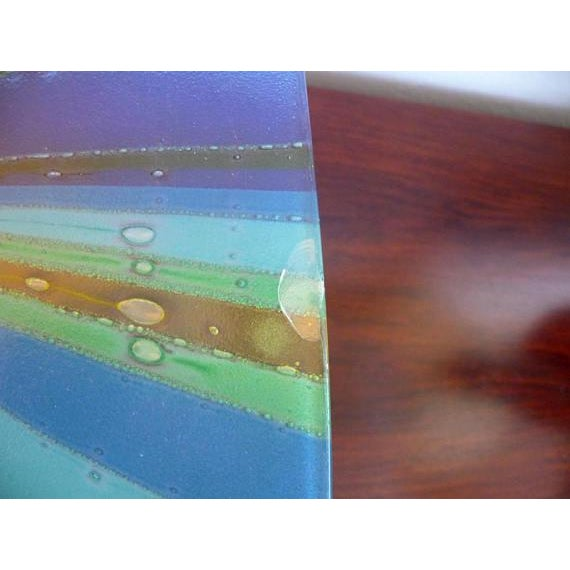 Higgins Fused Glass Tray & Bowl - A Pair For Sale - Image 9 of 11