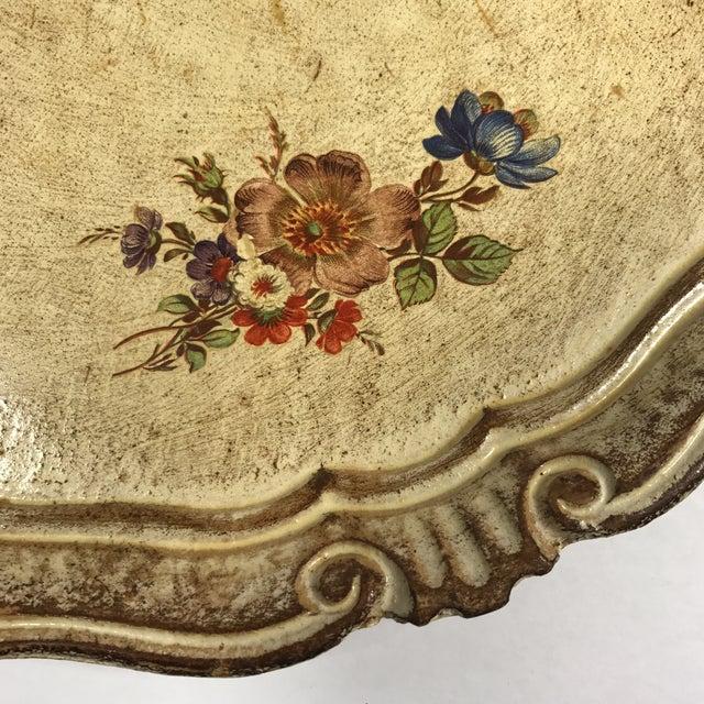 Vintage Italian Venetian Floral Tray - Image 3 of 9