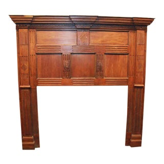 Antique Wooden Mantel