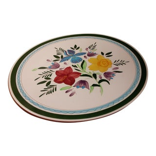 """Stangl Mid Century 16"""" Country Garden Platter For Sale"""