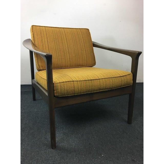Mid-Century Modern Style Upholstered Armchair | Chairish
