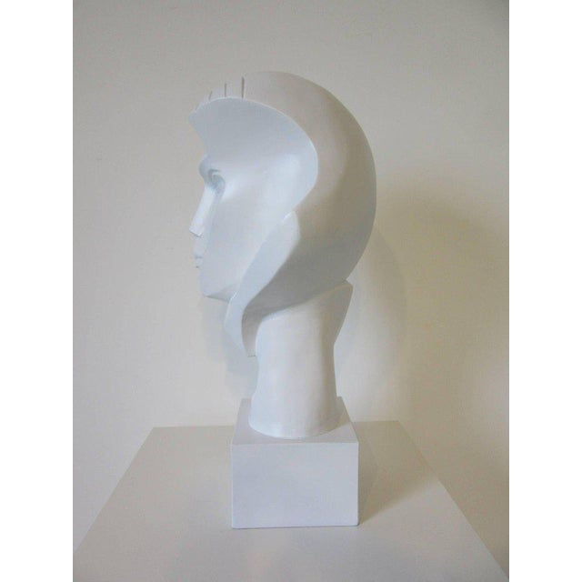 Austin Productions 1980s Large Female Head Sculpture by Austin For Sale - Image 4 of 9
