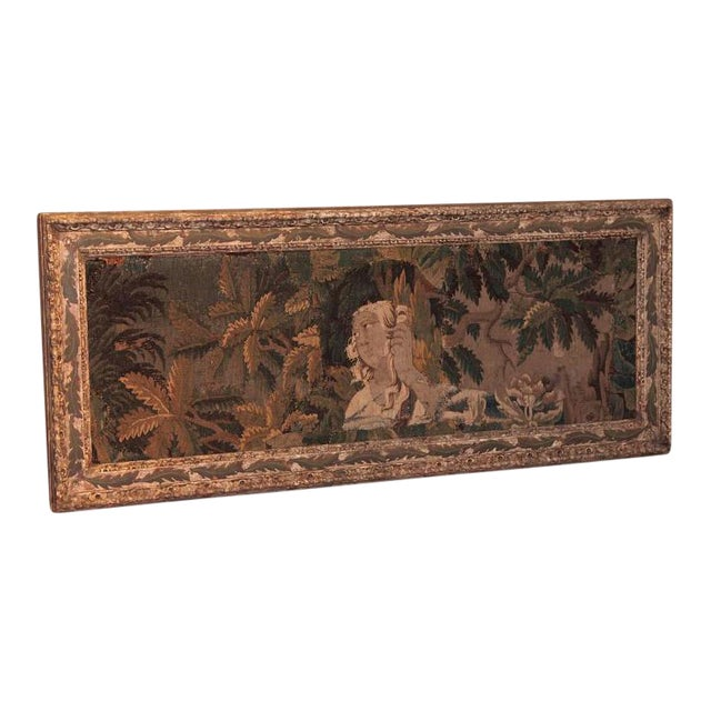 18th Century Framed French Aubusson Tapestry For Sale