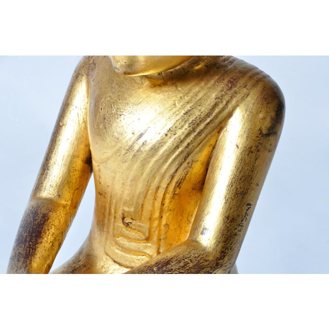Giltwood Buddhist Apostles- A Pair For Sale - Image 9 of 11
