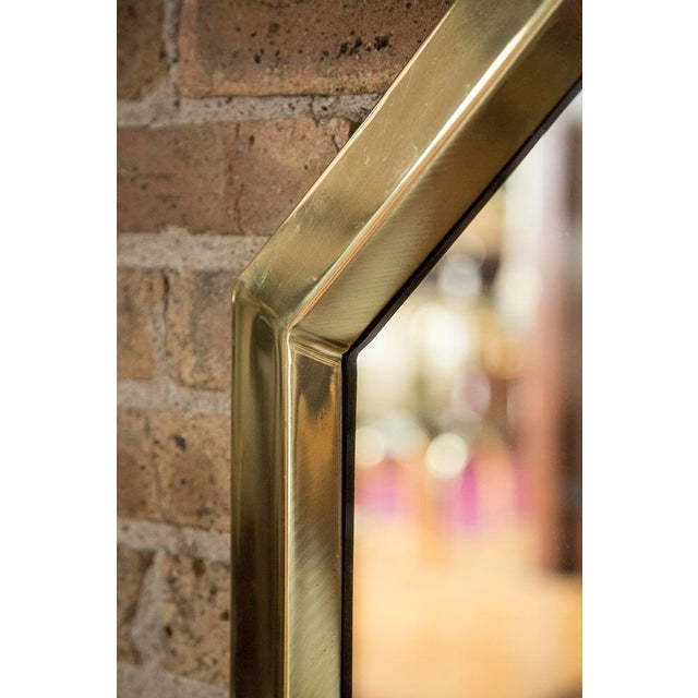 Brass Octagonal Mirrors - A Pair - Image 9 of 11
