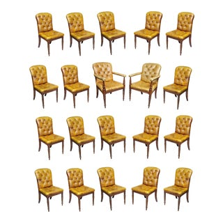 Regency Style Mahogany Dining Room / Conference Room Chairs - Set of 20 For Sale