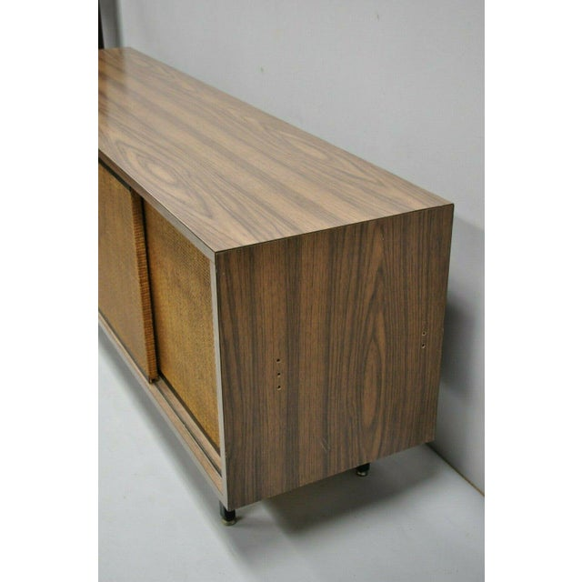 1970s Mid Century Modern Laminate Formica Case Credenza For Sale - Image 11 of 13