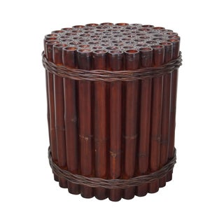 Genuine Bamboo Cylinder Round Dining Table Base