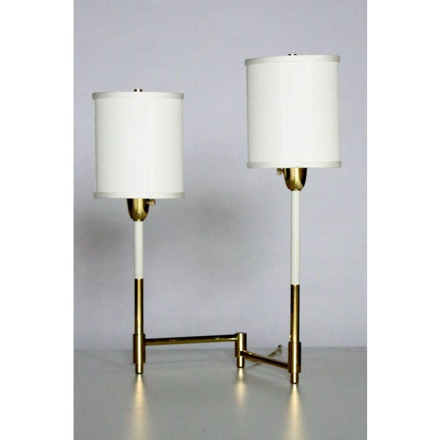 Brass Parzinger Style Table Lamps For Sale - Image 7 of 8