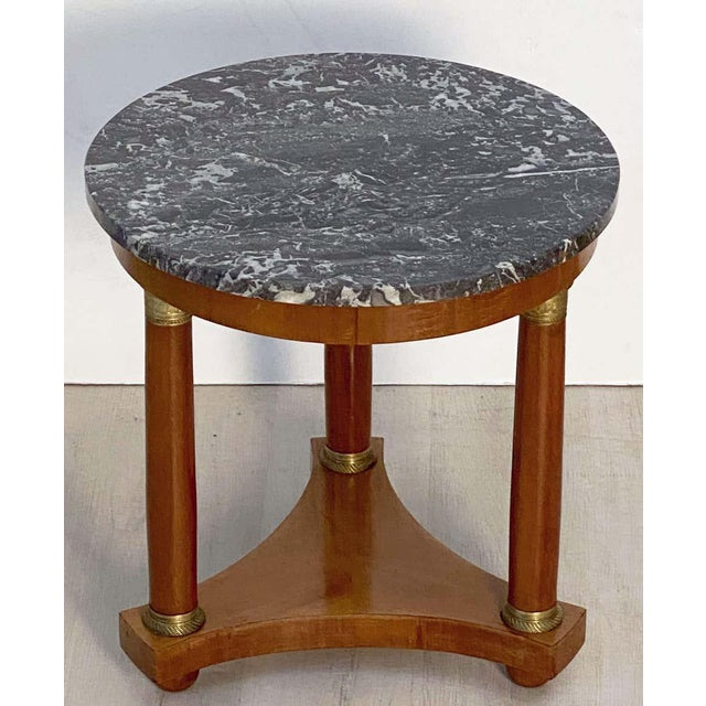 French French Marble-Top Table or Guéridon in the Empire Style For Sale - Image 3 of 13