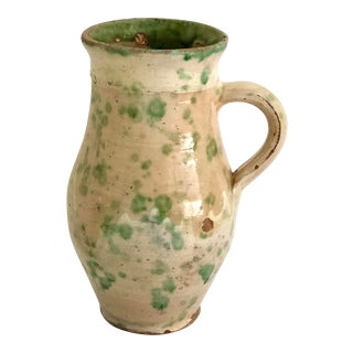 Antique French Country Pottery Water Jug For Sale